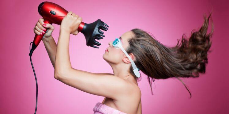 3 min pour se laver et sécher les cheveux