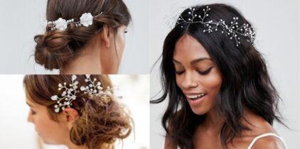 Diadèmes, barrettes, headbands\u2026 25 accessoires pour sublimer la coiffure de  la mariée
