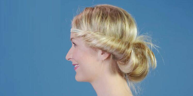 Tutoriel coiffure : le chignon bohème avec un headband (vidéo)
