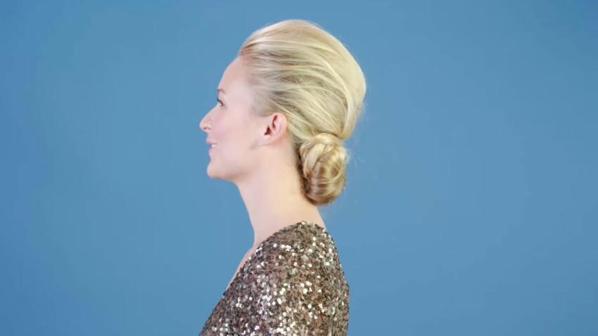 Tuto coiffure : le chignon sophistiqué (vidéo)