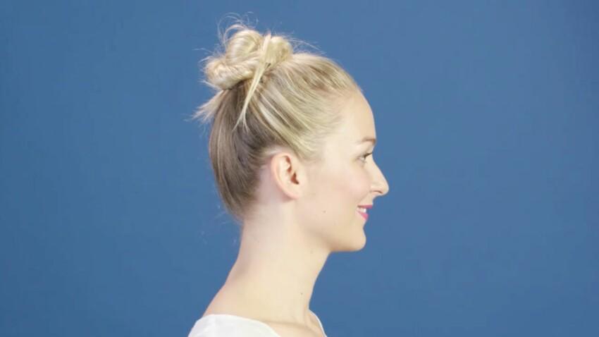 Tutoriel coiffure : le chignon torsadé express (vidéo)