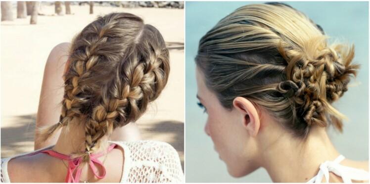 Coiffures de vacances pour enfants cheveux longs