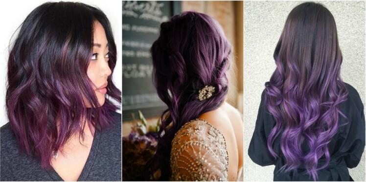 Cheveux violets, la tendance coloration qui nous séduit