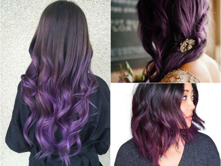 Coloration cheveux couleur violet
