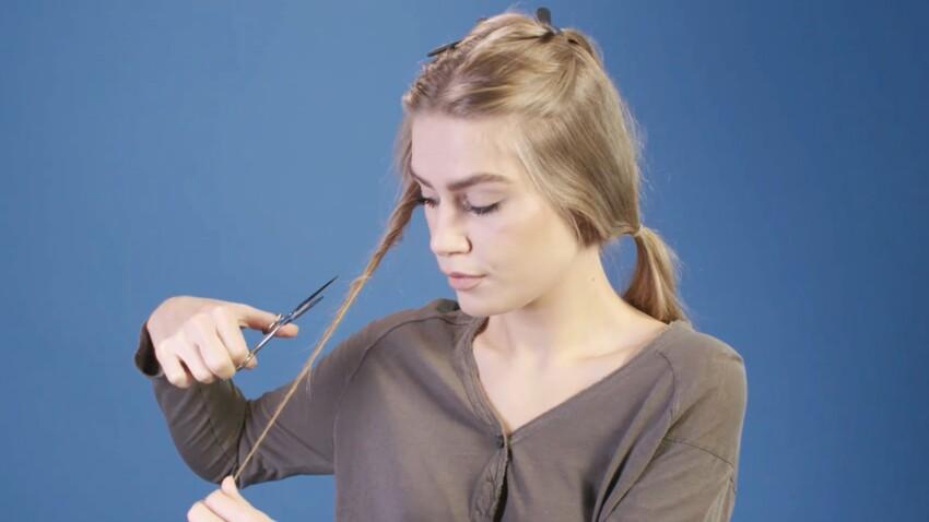 Tuto coiffure : couper ses pointes fourchues (vidéo)