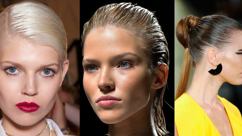 """Le """"wet look"""" : comment réaliser cette coiffure ultra-tendance prisée des stars ?"""