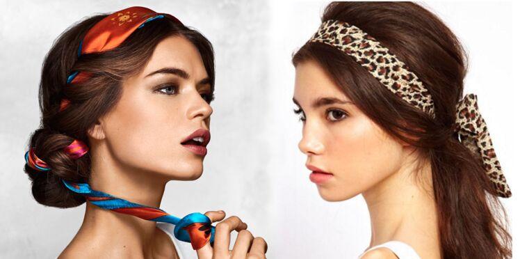20 idées coiffure à réaliser avec un foulard