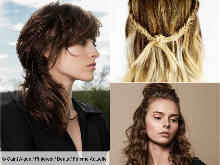 Idee coiffure femme cheveux mi long