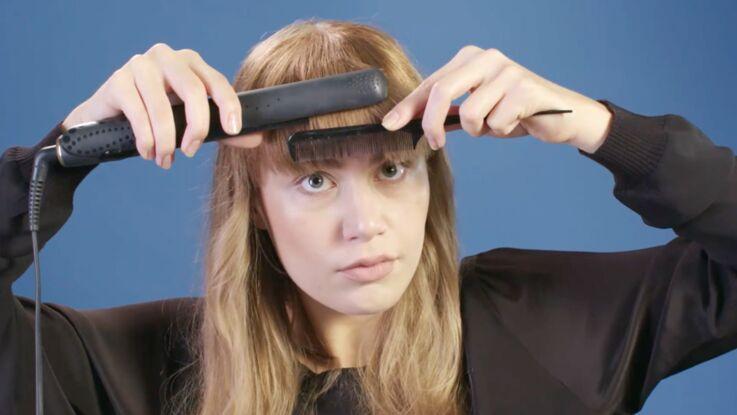 Tutoriel coiffure : bien lisser sa frange (vidéo)