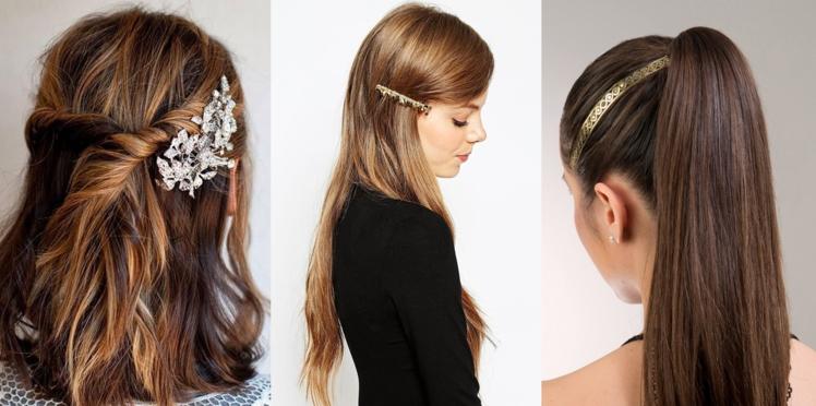 Nos idées de coiffures de fêtes avec accessoires