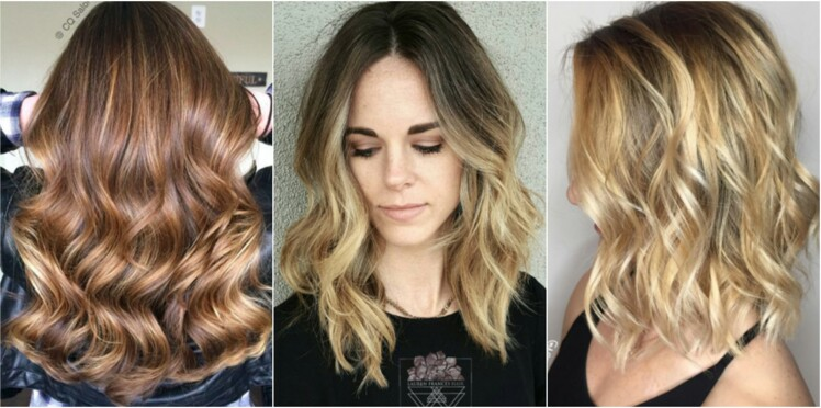 Coloration de cheveux brun en blond