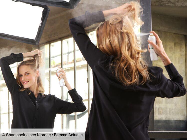 Que Faire Avec Du Shampooing Sec Femme Actuelle Le Mag