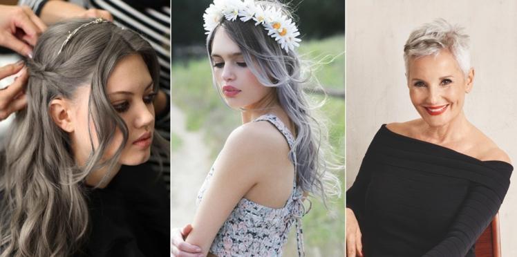 Cheveux gris : on ose cette tendance