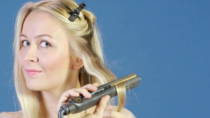 Tutoriel coiffure : onduler ses cheveux au fer à lisser (vidéo)