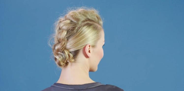 Tutoriel coiffure : la crête tressée (vidéo)