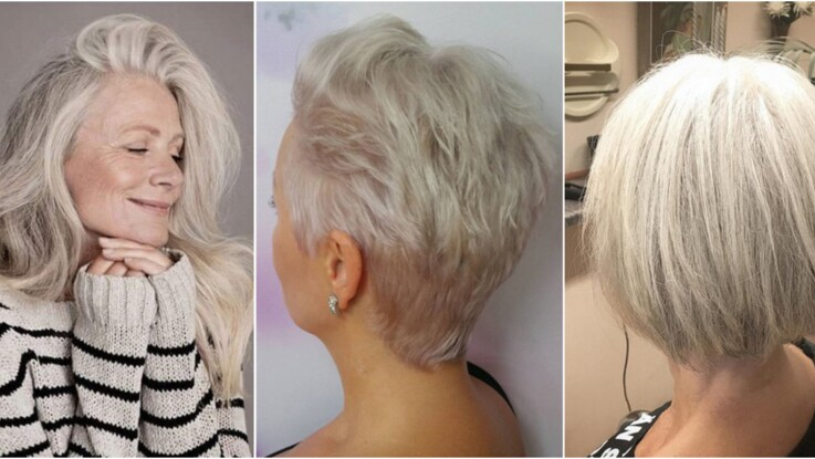 Coupe degradee cheveux blancs