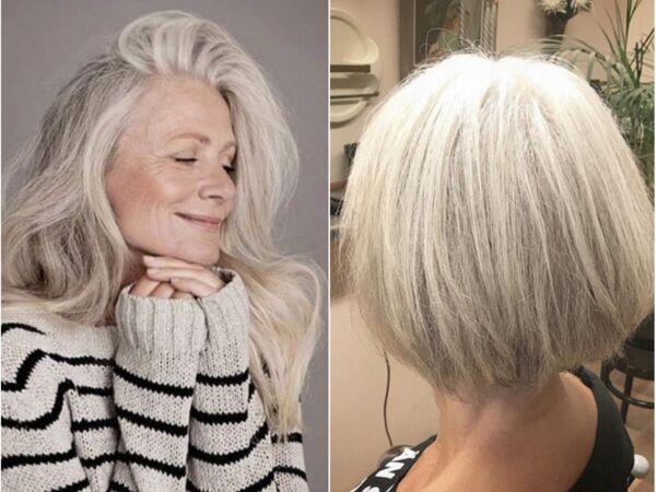 20 idées coupes et coiffures pour les cheveux blancs