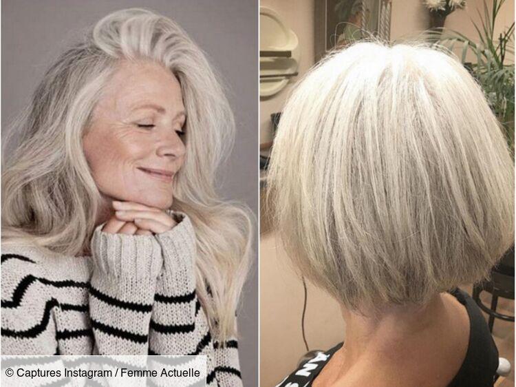 Coupe courte moderne pour cheveux gris