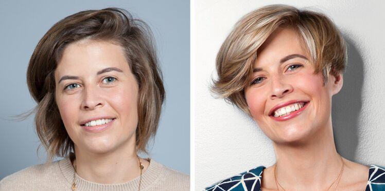 Avant/après : le relooking coiffure de Marie