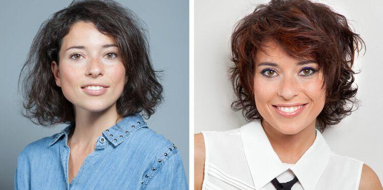Avant/après : le relooking coiffure d'Aurélie