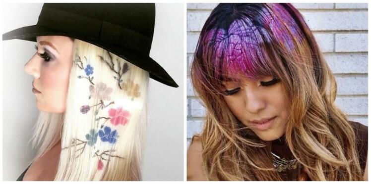 Graffiti hair : la tendance cheveux des réseaux sociaux