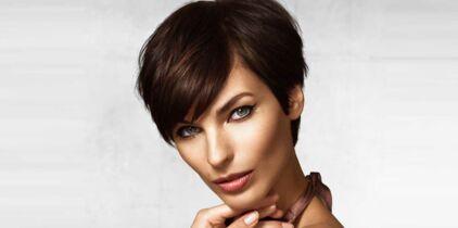 Coiffure pour cheveux fins et visage long
