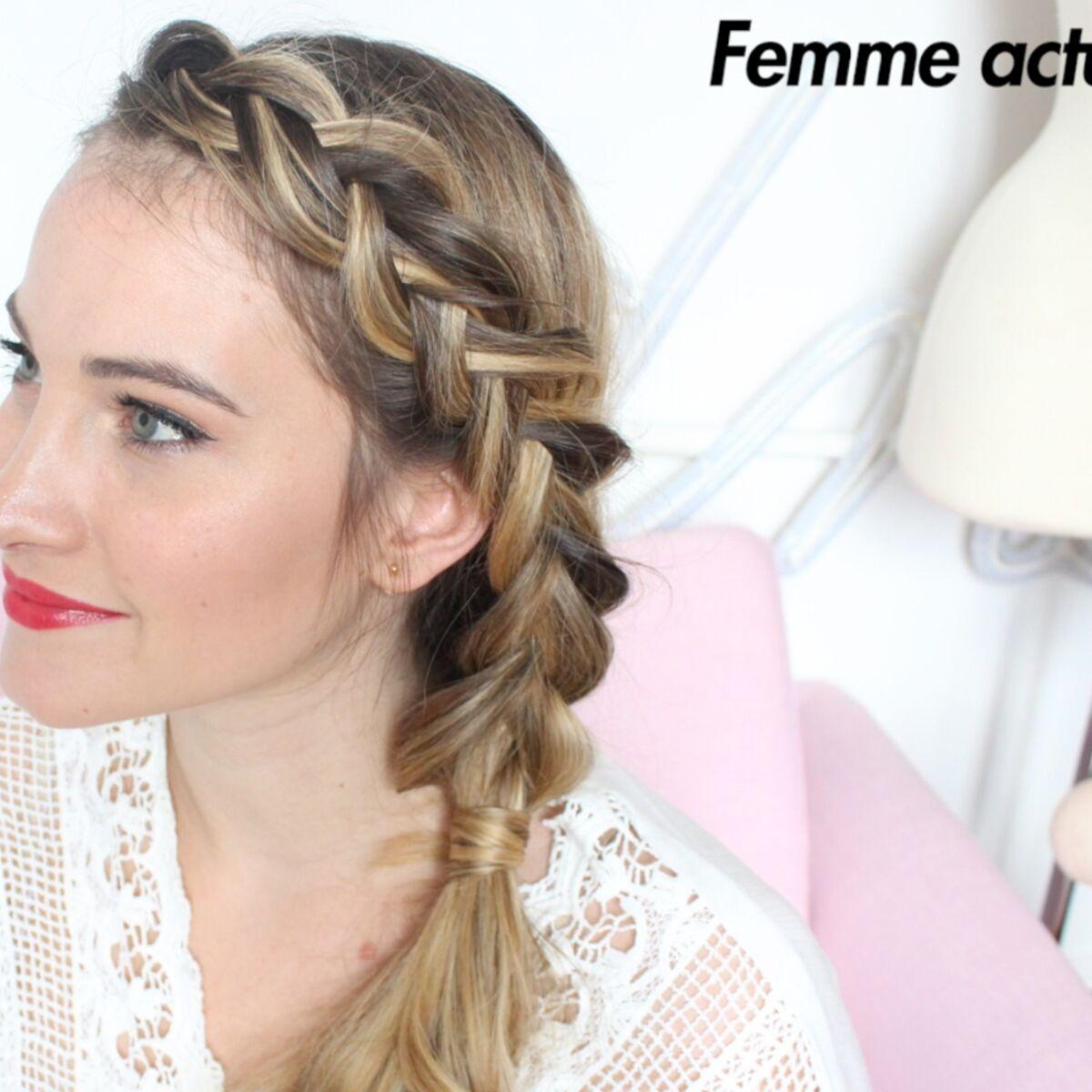 tutoriel coiffure : la tresse sophistiquée : femme actuelle