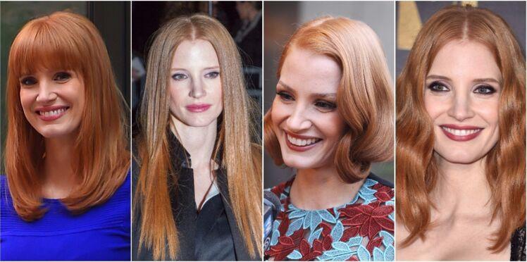 15 idées de coupes et coiffures à piquer à Jessica Chastain