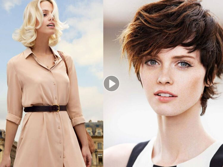 SchГ©ma de coupe de cheveux des femmes classiques