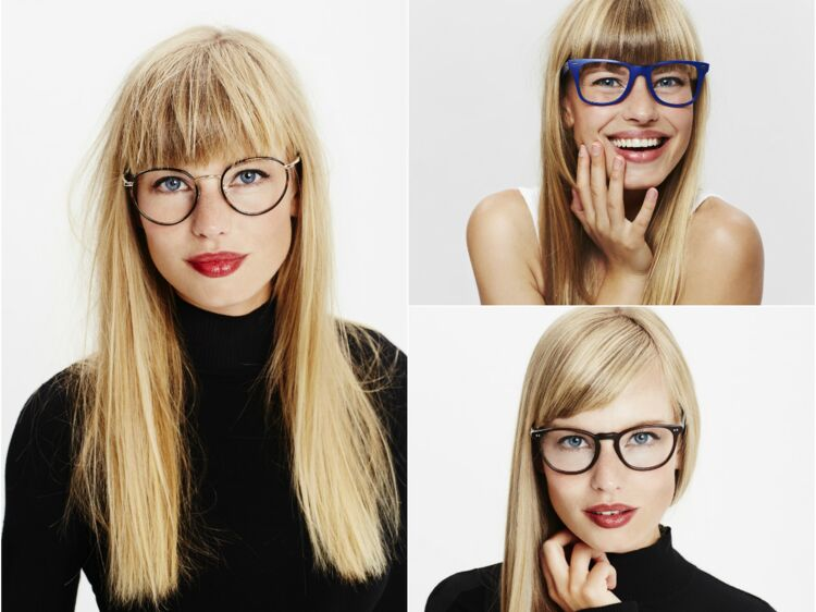 Coiffure femme cheveux courts lunettes