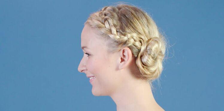 Tutoriel coiffure : le chignon tressé (vidéo)