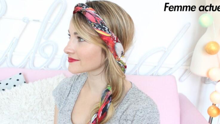 Tutoriel coiffure : l'attache avec un foulard