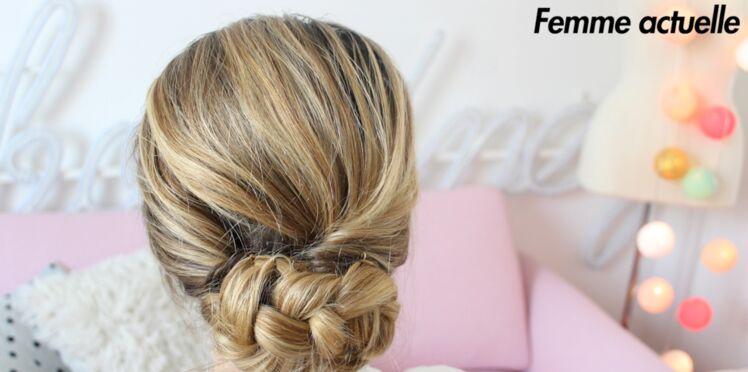 Tutoriel coiffure : le chignon bas