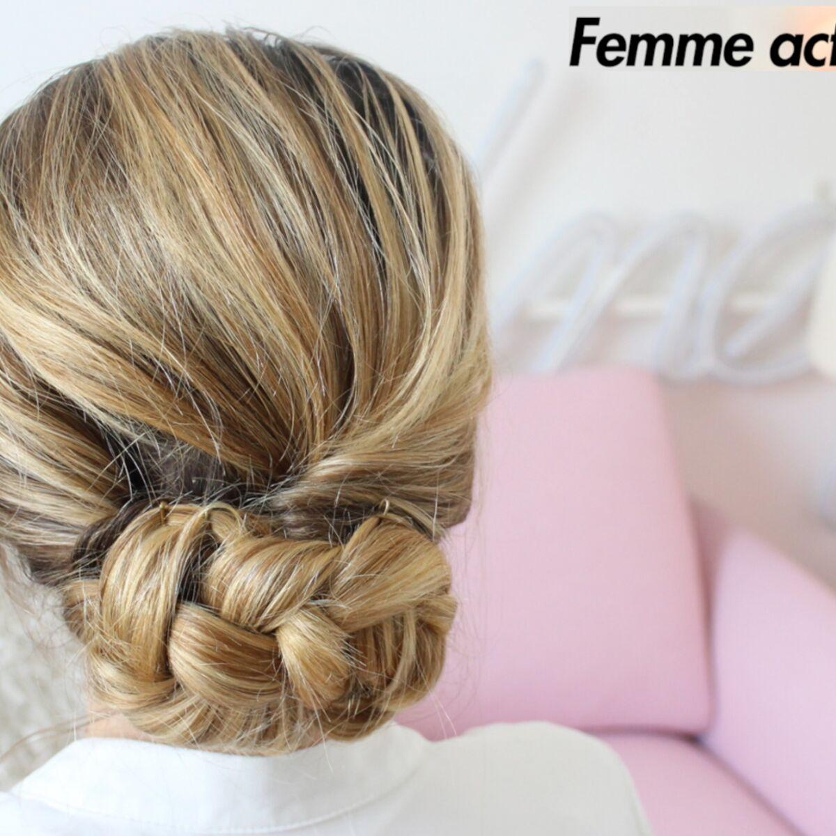 Tutoriel Coiffure Le Chignon Bas Femme Actuelle Le Mag