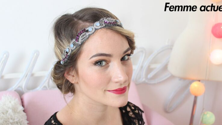 Chignon avec un headband : la coiffure romantique à adopter