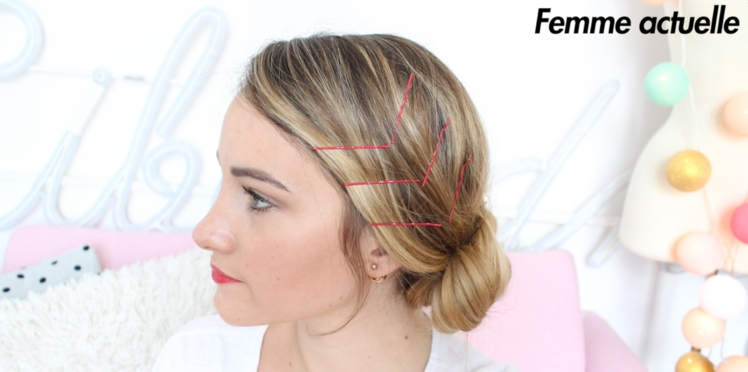 Tutoriel coiffure : les pinces kirby