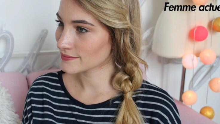 Tutoriel coiffure : la queue basse nouée