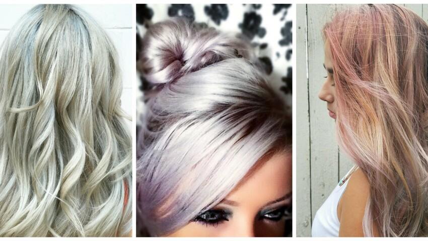 Coloration blond pearl, la tendance cheveux pastel