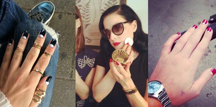 Repérée sur Instagram : la tendance moonnails