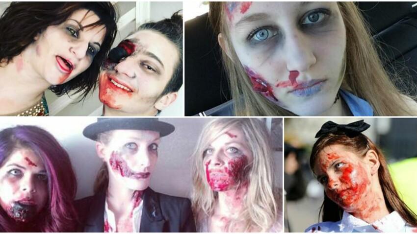 """Maquillage, marche inspirante de """"Zombies"""" à l'approche de Halloween"""