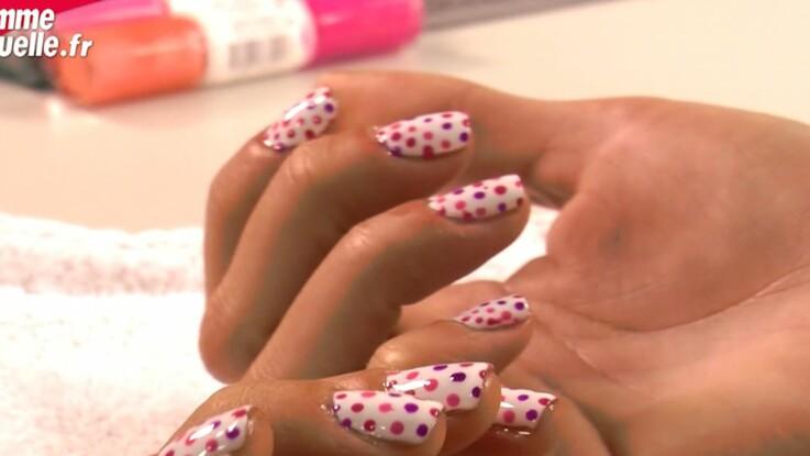 Vidéo : le nail art à pois