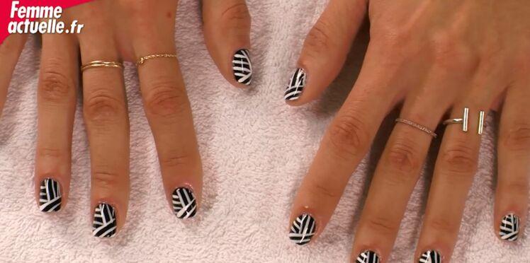 Vidéo : nail art graphique