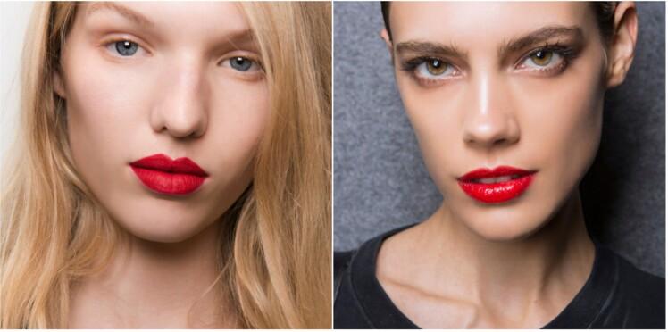 La bouche rouge, plutôt mate ou glossy ?
