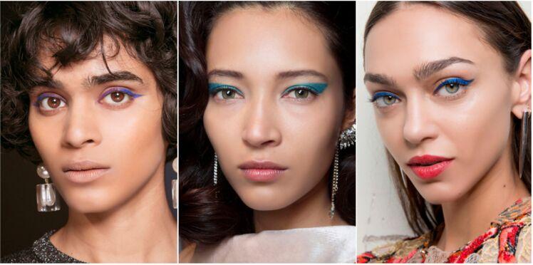 Maquillage : 3 façons de porter l'eyeliner bleu