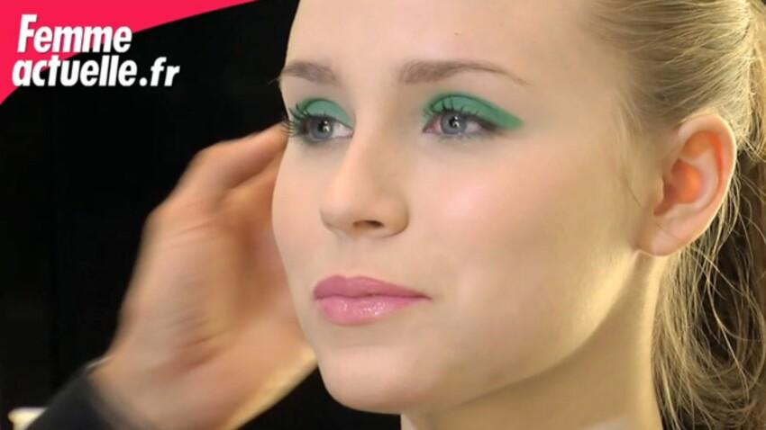 Un maquillage des yeux flashy