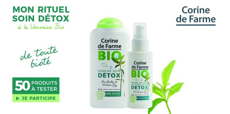 Testez la Brume et la Douche Soin Bio Détox de Corine de Farme