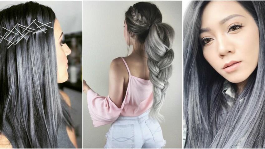 Cheveux charbon, la coloration tendance