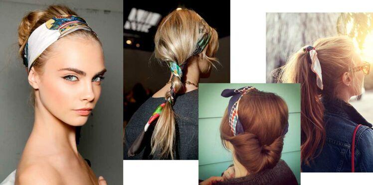 1 foulard, 4 coiffures !