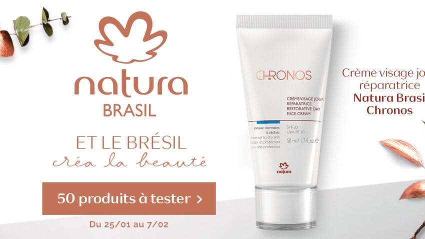 Testez la Crème Visage Jour Réparatrice Chronos de Natura Brasil