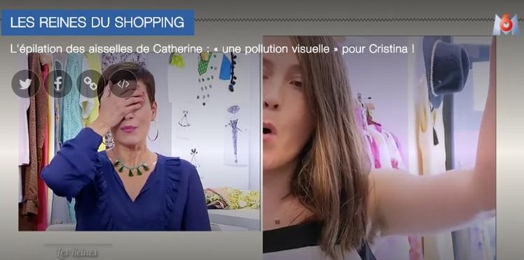 """Vidéo - Cristina Cordula horrifiée par la pilosité d'une candidate dans """"Les reines du shopping"""""""